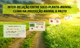 INTER-RELAÇÃO ENTRE SOLO-PLANTA-ANIMAL-CLIMA NA PRODUÇÃO ANI