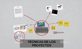 TECNICAS DE LOS PROYECTOS