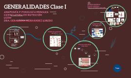 GENERALIDADES Clase I