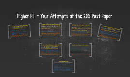 Higher PE - Your Attempts at the 2015 Past Paper