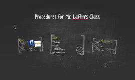 Procedures for Mr. Laffin's Class