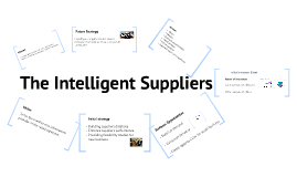 The Intelligent suppliers