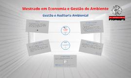 Gestão e Auditoria Ambiental