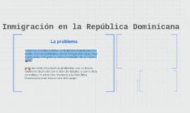 Inmigración en la República Dominicana
