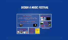Design a music festival