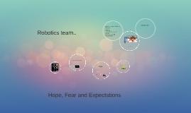 Robotics team..