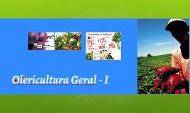 Olericultura Geral - I