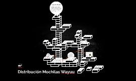 Distribución Mochilas Wayuu