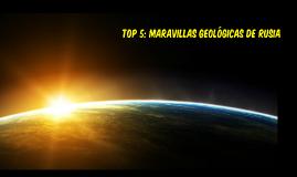 TOP 5: MARAVILLAS GEOLÓGICAS DE RUSIA