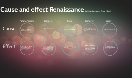 Cause and effect Renaissance