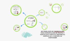 METODOLOGÍA DE LA PRIORIZACIÓN PARA EXPORTACIÓN DE FRUTAS Y HORTALIZAS ORGÁNIZAS FRESCAS PROPIAS DE LA REGIÓN DE SANTANDER