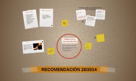 Copy of RECOMENDACIÓN 28/2014