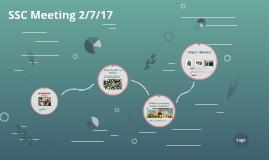 SSC Meeting 2/7/17