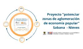 """Proyecto """"potenciar zonas de aglomeración de enconomía popular"""" Sabana Nieves"""