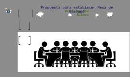 Propuesta para establecer Mesa de Dialogo