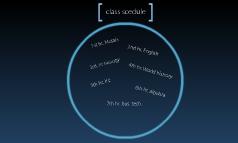 class scedule