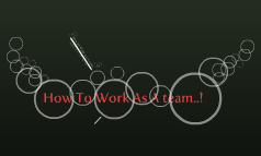 How To Work As A team..!
