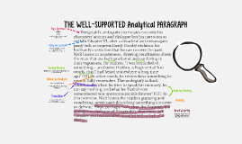 The Well-Supported Analytical Paragraph