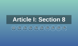 Article I: Section 8