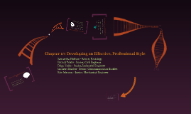 Chapter 10: Developing an Effective, Professional Style