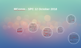 MComm Updates - SPC 12 October 2018