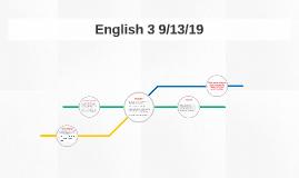 English 3 9/13/19