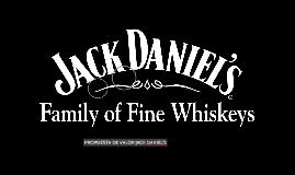 Propuesta de valor Jack Daniel´s