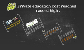 Private education cost reaches