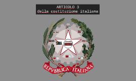 Articolo 3 della Costituzione Italiana