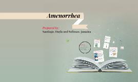 Copy of amenorrhea