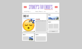 SYDNEY'S FAV EMOJI'S