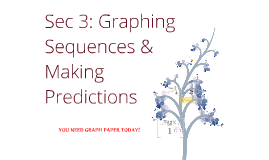sec 2: graphing sequences and making predictions