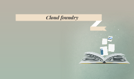 Cloud foundry (PaaS)