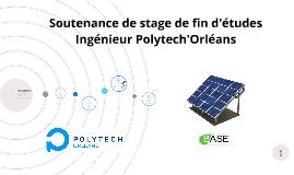 Soutenance de stage de fin d'étude Ingénieur Polytech'Orléan