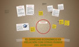 EL DERECHO ECONÓMICO EN RELACIÓN CON OTRAS RAMAS DEL DERECHO