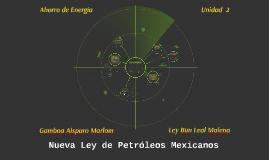 Nueva Ley de Petróleos Mexicanos