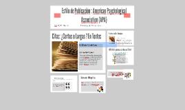 Estilo de Publcación : APA