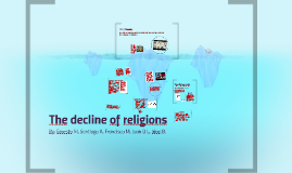The decline of religions