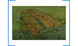 Oudste kaart van Amsterdam. Midden 16de eeuw gemaakt