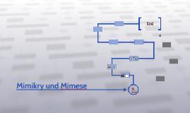 Mimikry und Mimese