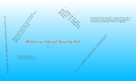 Connection to the Crucible: McCarran Internal Security Act