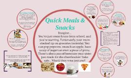 Quick Meals & Snacks