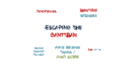 Escaping the Ganttban