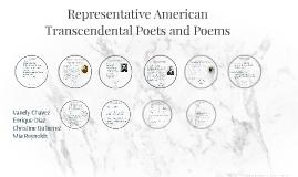 Representative American Transcendental Poets and Poems