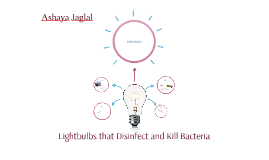 Lightbulbs that Disinfect and Kill Bacteria