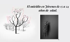 El suicidio en Jóvenes de 15 a 24 años de  edad.
