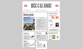 HRSC-C ALL HANDS