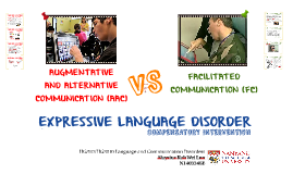 AY14/15 HG310 Language and Communication Disorders (NTU) Individual Project