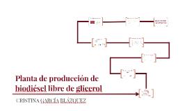PLANTA DE PRODUCCIÓN DE BIODIÉSEL LIBRE DE GLICEROL