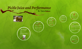Pickle Juice and Performance